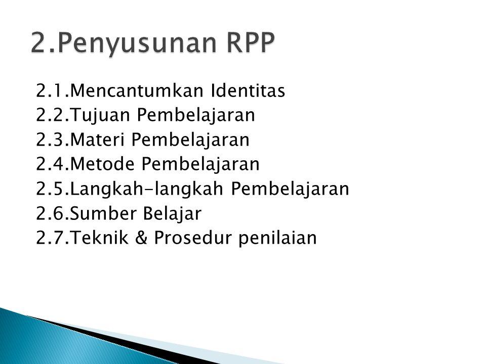 2.Penyusunan RPP