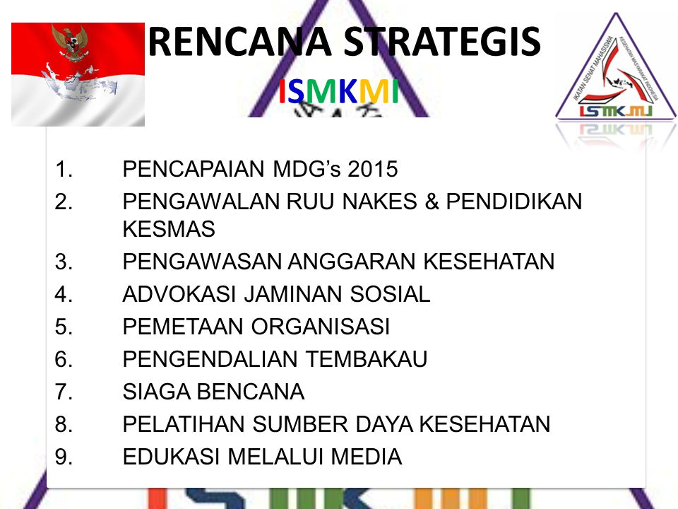 RENCANA STRATEGIS ISMKMI