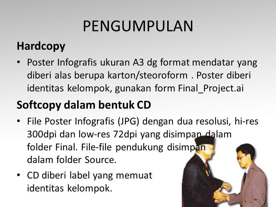 PENGUMPULAN Hardcopy Softcopy dalam bentuk CD