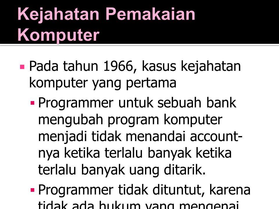 Kejahatan Pemakaian Komputer