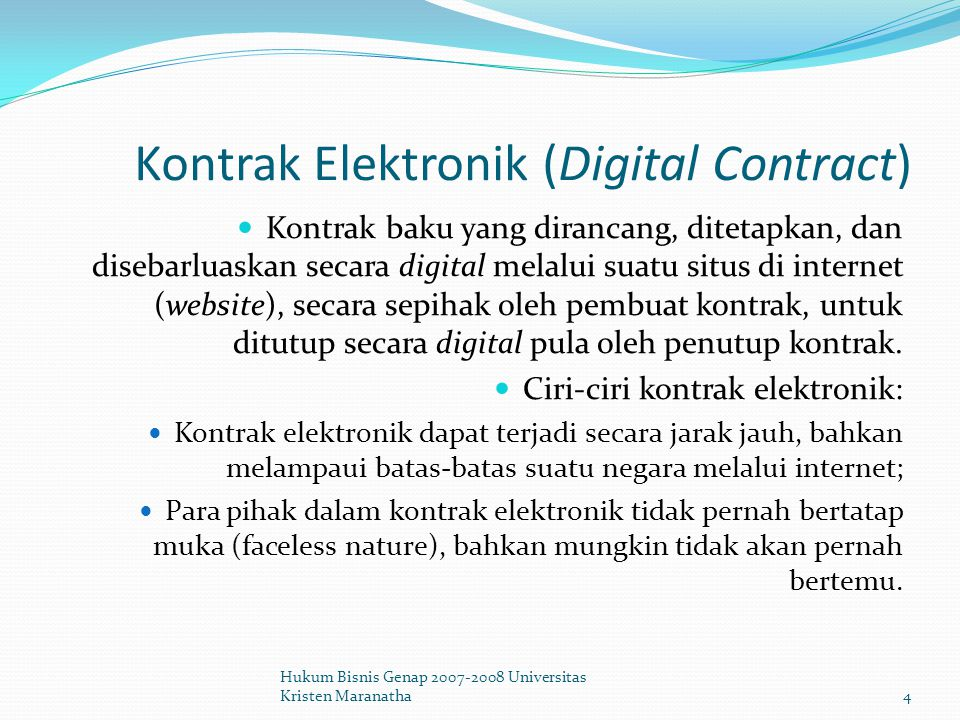 Kontrak Elektronik (Digital Contract)