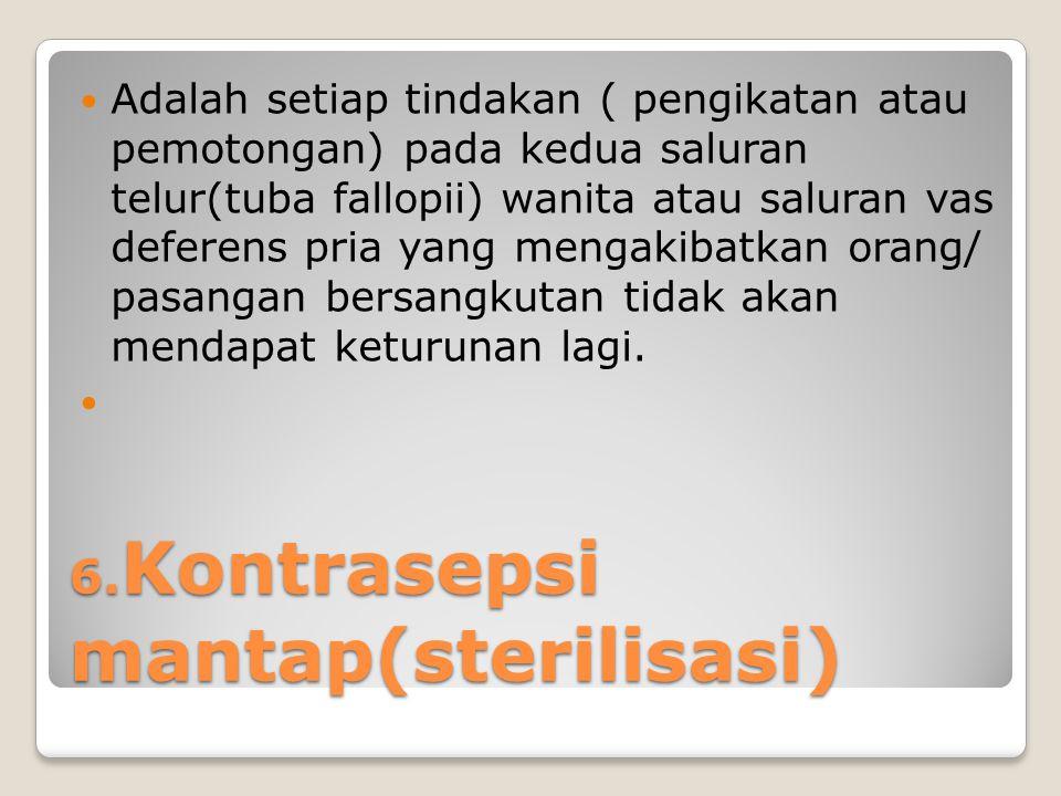 6.Kontrasepsi mantap(sterilisasi)