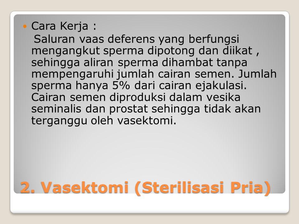 2. Vasektomi (Sterilisasi Pria)