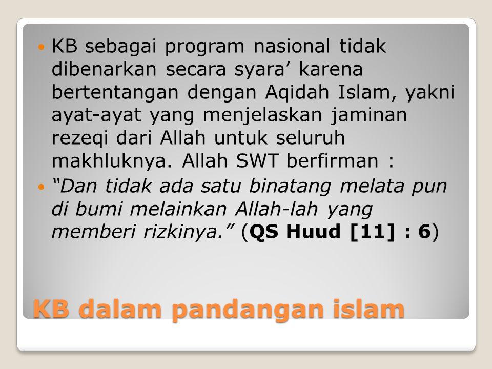 KB dalam pandangan islam