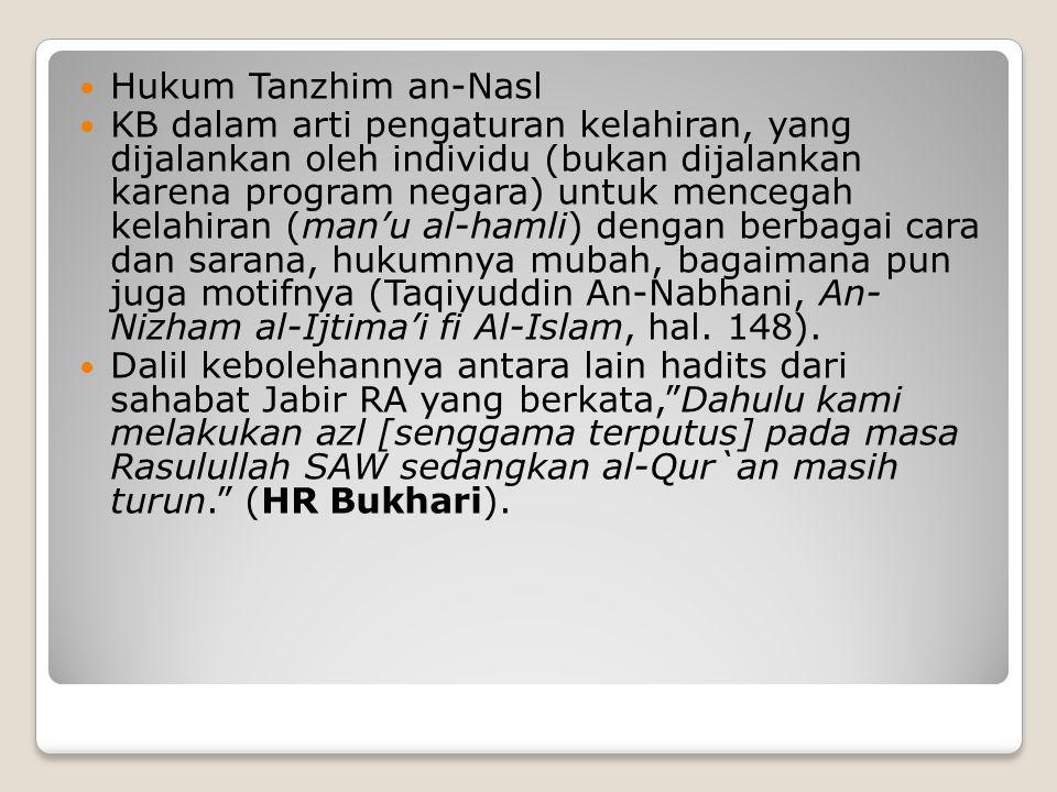 Hukum Tanzhim an-Nasl
