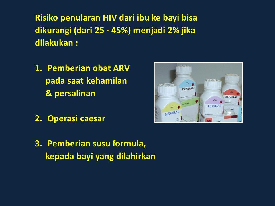 Risiko penularan HIV dari ibu ke bayi bisa