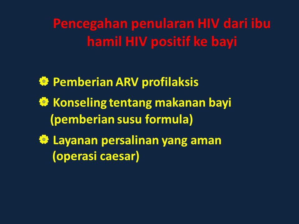 Pencegahan penularan HIV dari ibu hamil HIV positif ke bayi