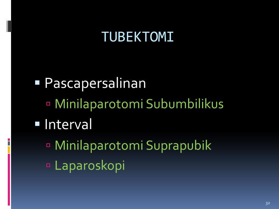 TUBEKTOMI Pascapersalinan Interval Minilaparotomi Subumbilikus
