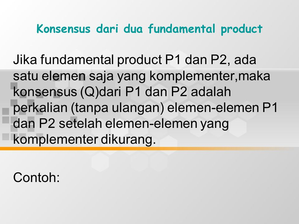 Konsensus dari dua fundamental product