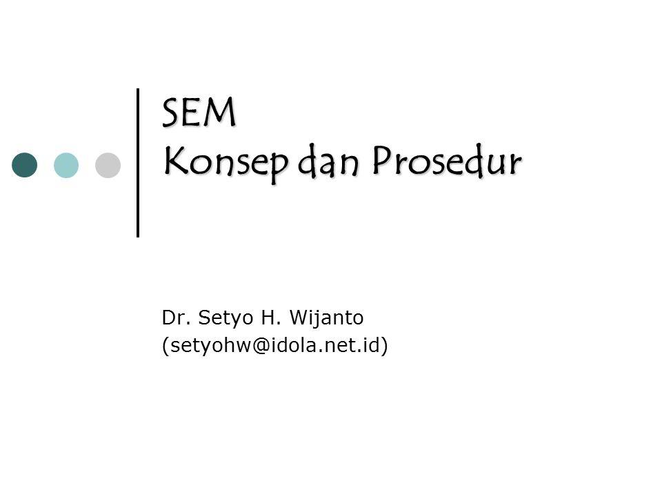 SEM Konsep dan Prosedur