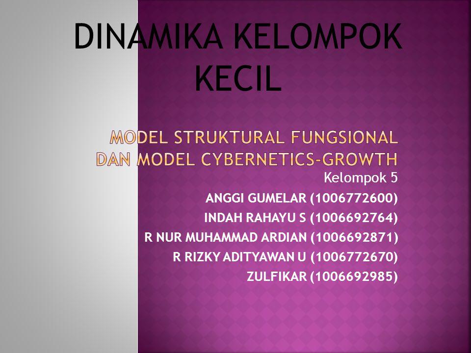 Model Struktural Fungsional dan Model Cybernetics-Growth