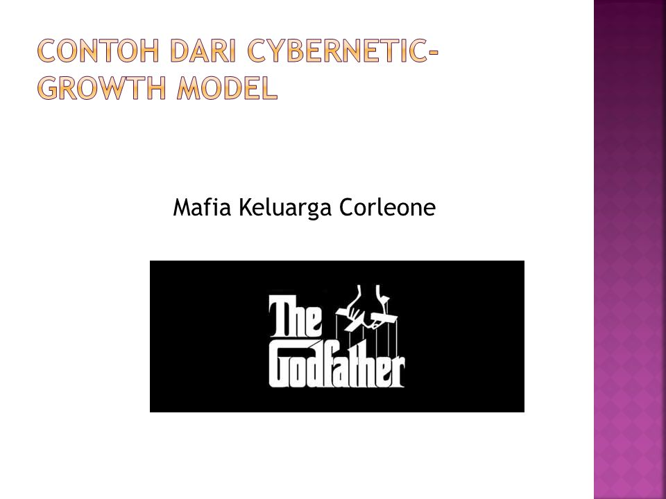 Contoh dari Cybernetic-Growth Model