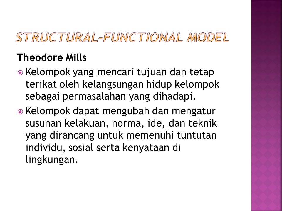 Structural-Functional Model