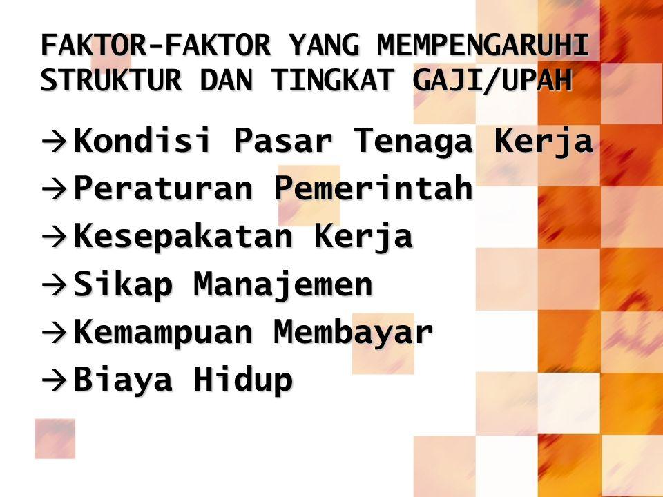 FAKTOR-FAKTOR YANG MEMPENGARUHI STRUKTUR DAN TINGKAT GAJI/UPAH