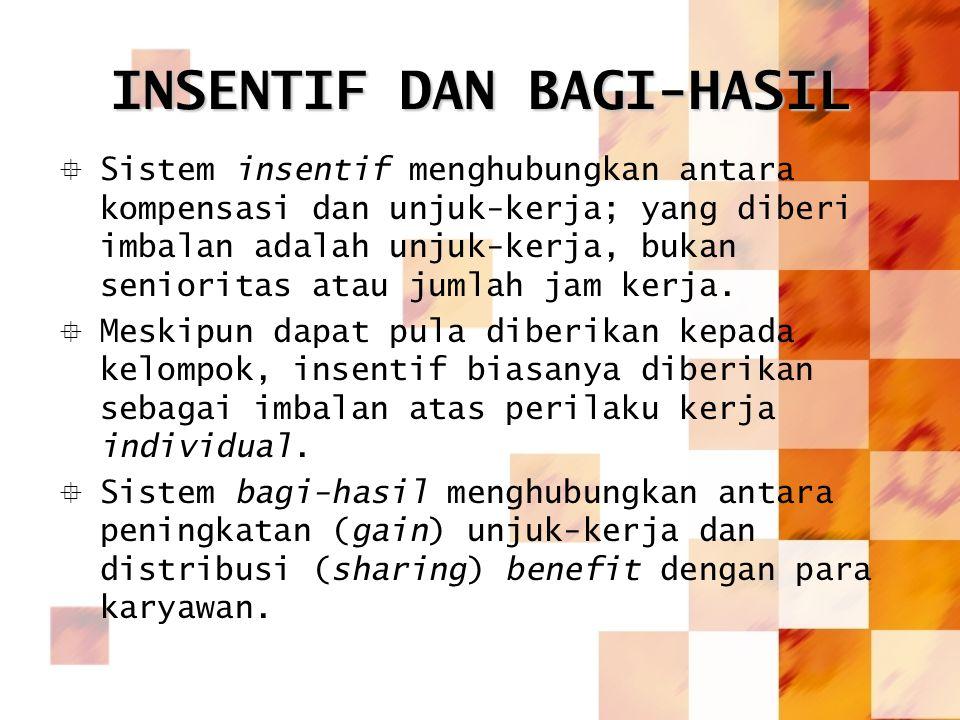 INSENTIF DAN BAGI-HASIL