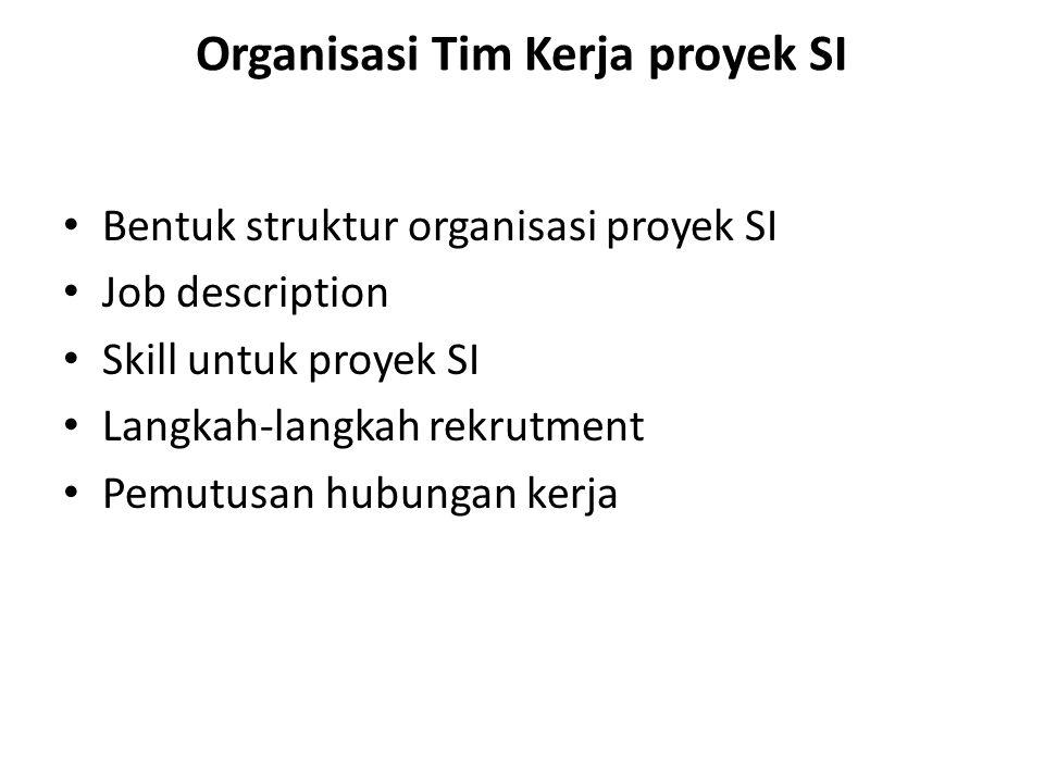 Organisasi Tim Kerja proyek SI