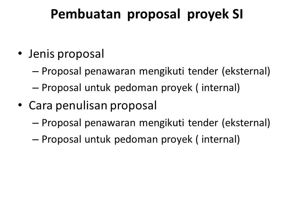 Pembuatan proposal proyek SI