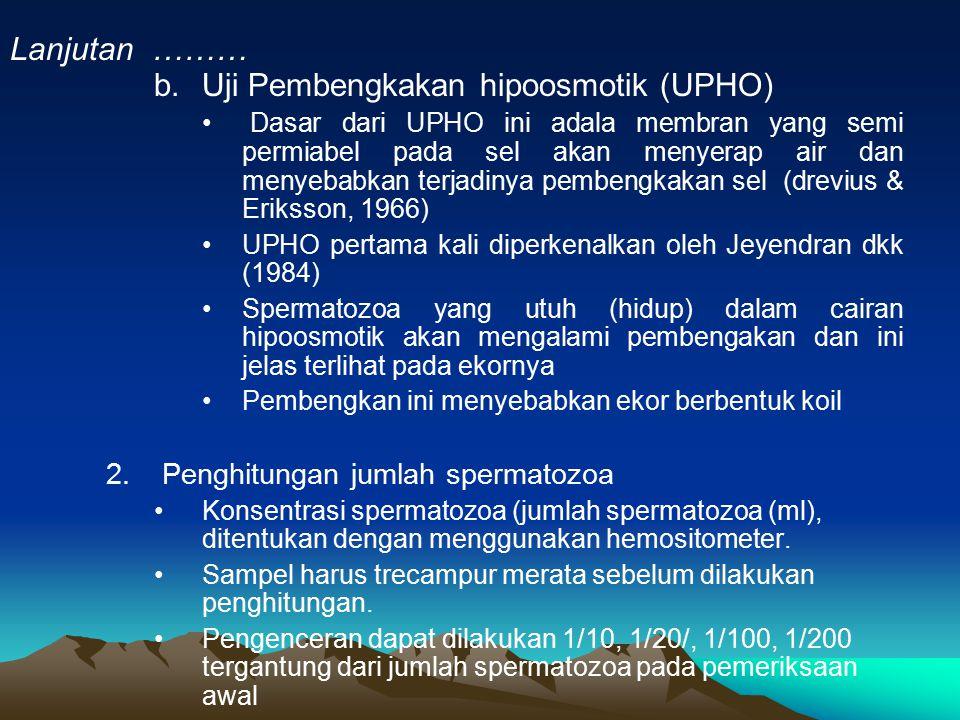 Uji Pembengkakan hipoosmotik (UPHO)