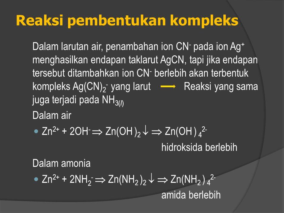 Reaksi pembentukan kompleks