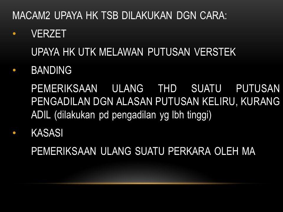 MACAM2 UPAYA HK TSB DILAKUKAN DGN CARA: