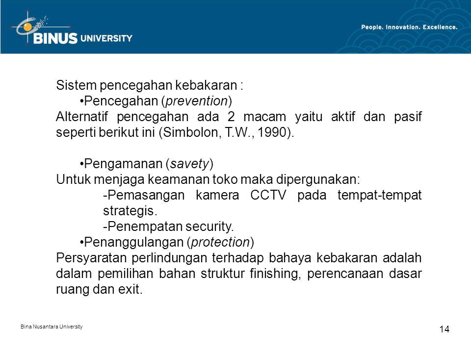 Sistem pencegahan kebakaran : Pencegahan (prevention)