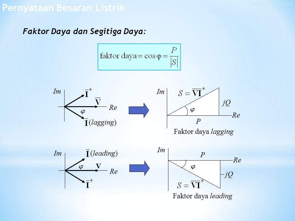 Faktor Daya & Segitiga Daya
