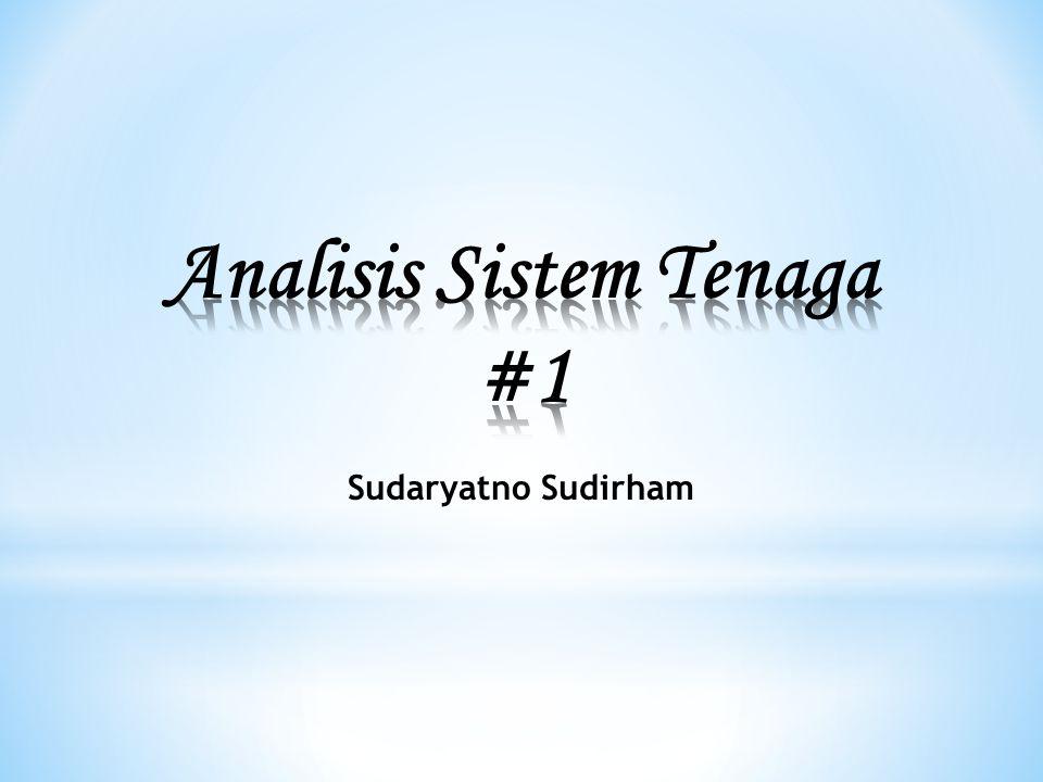 Analisis Sistem Tenaga #1