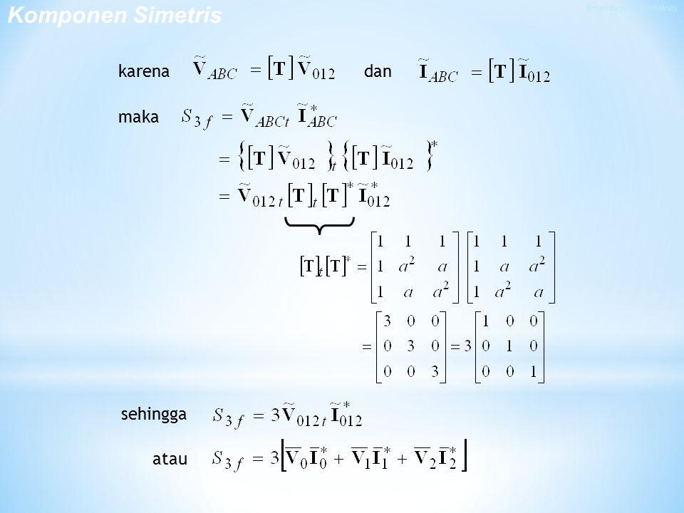 Relasi Daya dalam Matriks