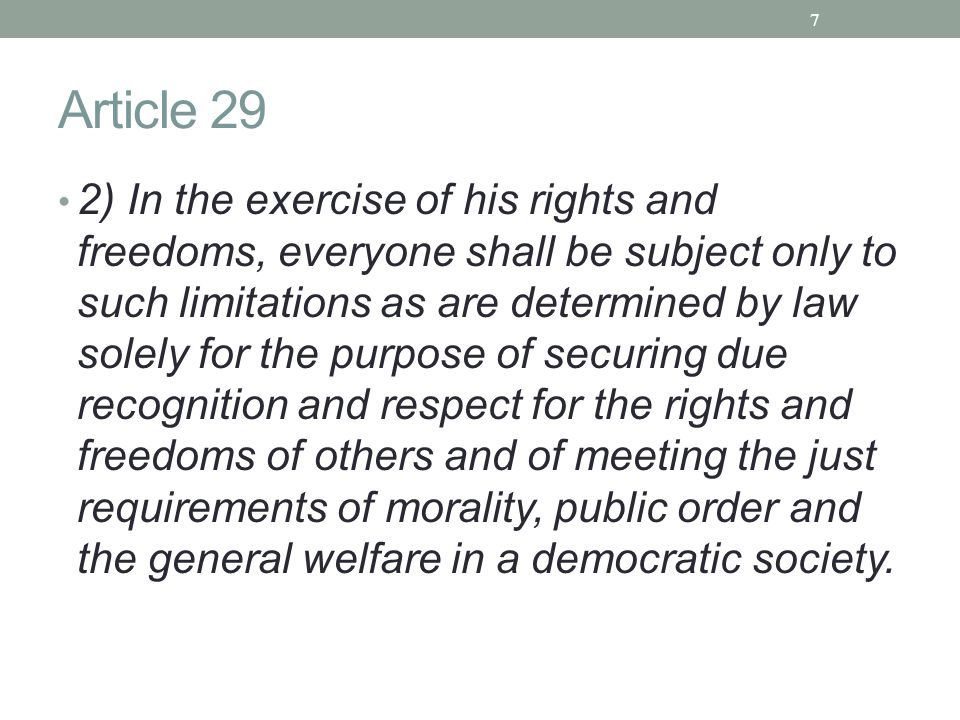 Article 29
