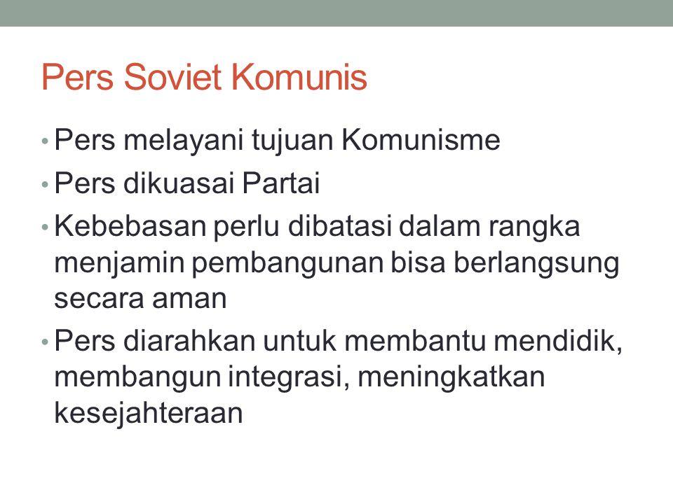 Pers Soviet Komunis Pers melayani tujuan Komunisme