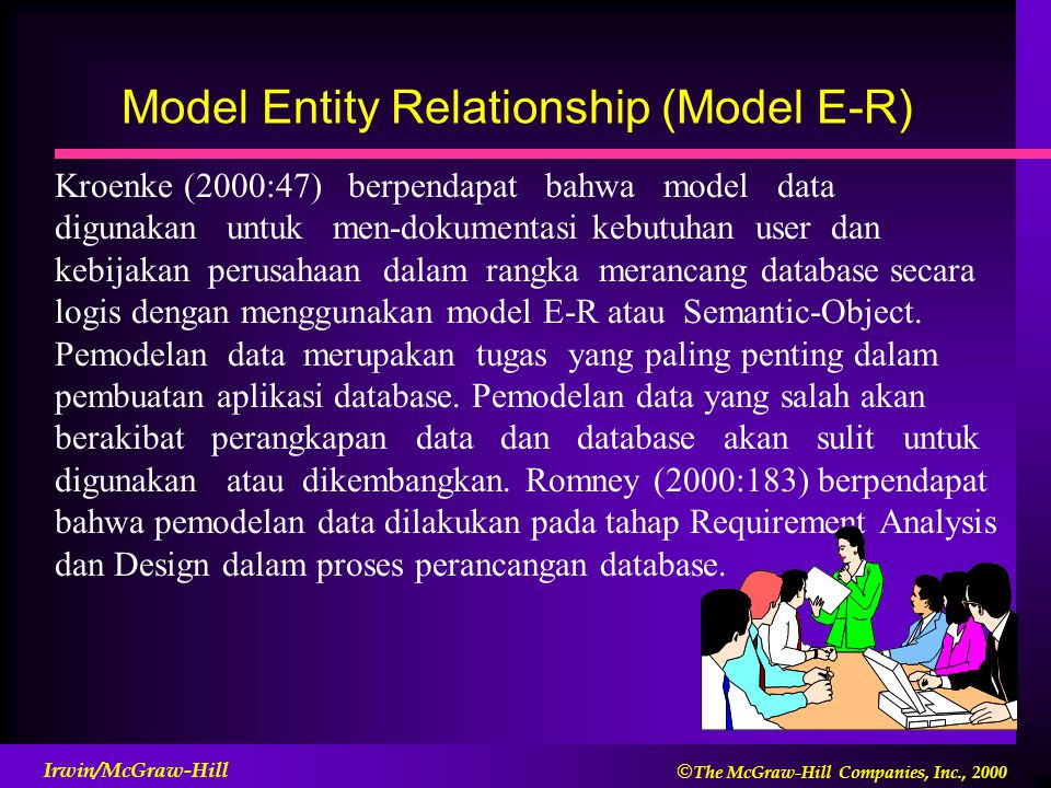 Model Entity Relationship (Model E-R)