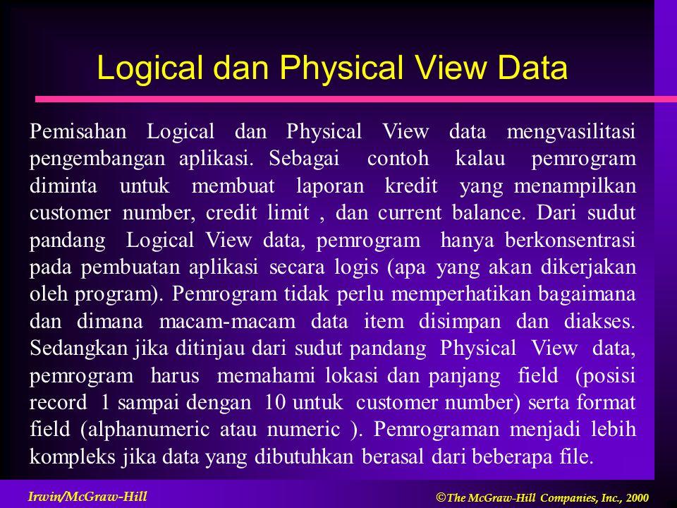 Logical dan Physical View Data