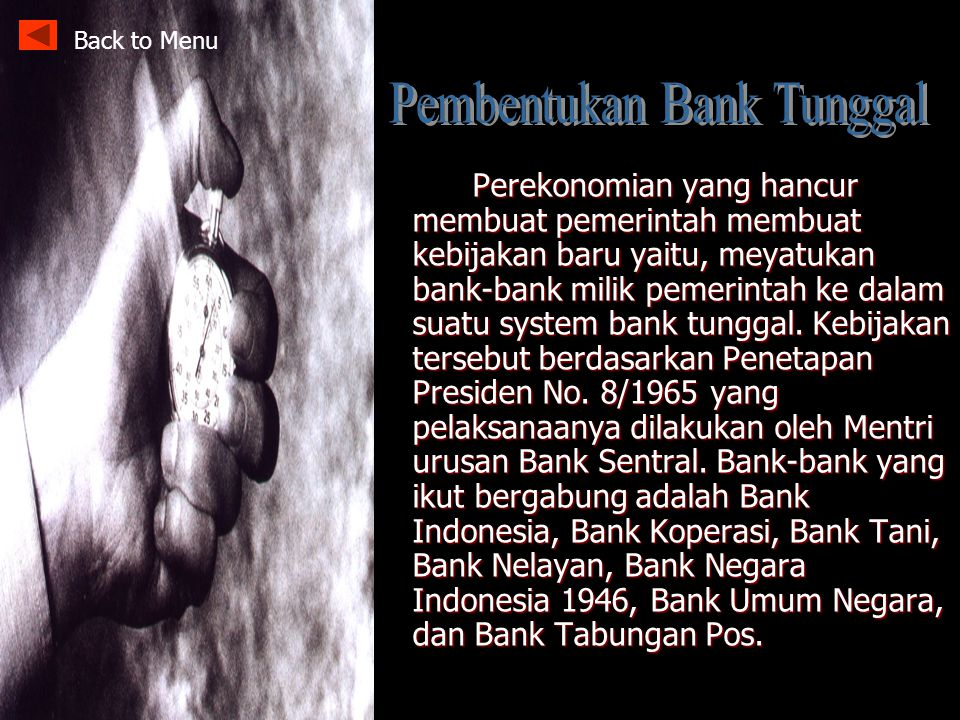 Pembentukan Bank Tunggal