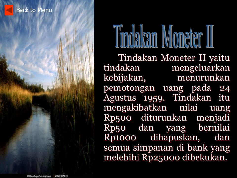 Back to Menu Tindakan Moneter II.