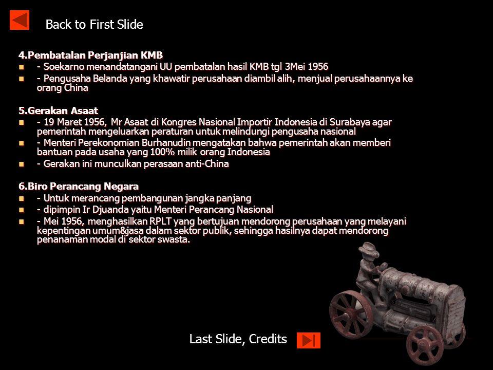 Back to First Slide Last Slide, Credits 4.Pembatalan Perjanjian KMB