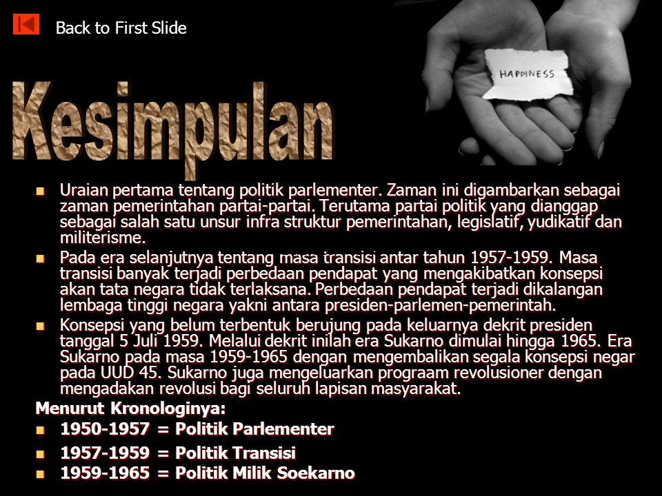 Kesimpulan Back to First Slide
