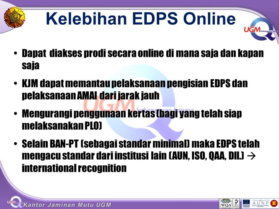 Kelebihan EDPS Online Dapat diakses prodi secara online di mana saja dan kapan saja.