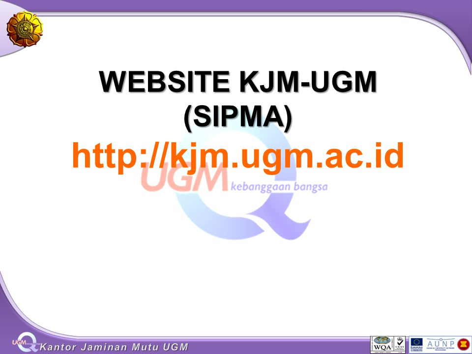 WEBSITE KJM-UGM (SIPMA) http://kjm.ugm.ac.id