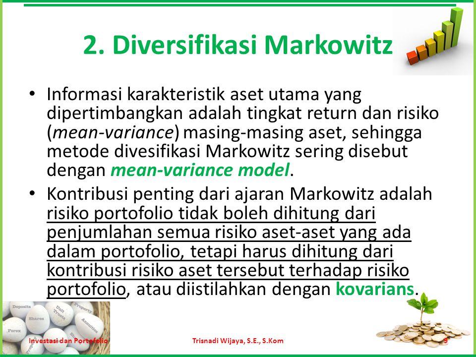 2. Diversifikasi Markowitz