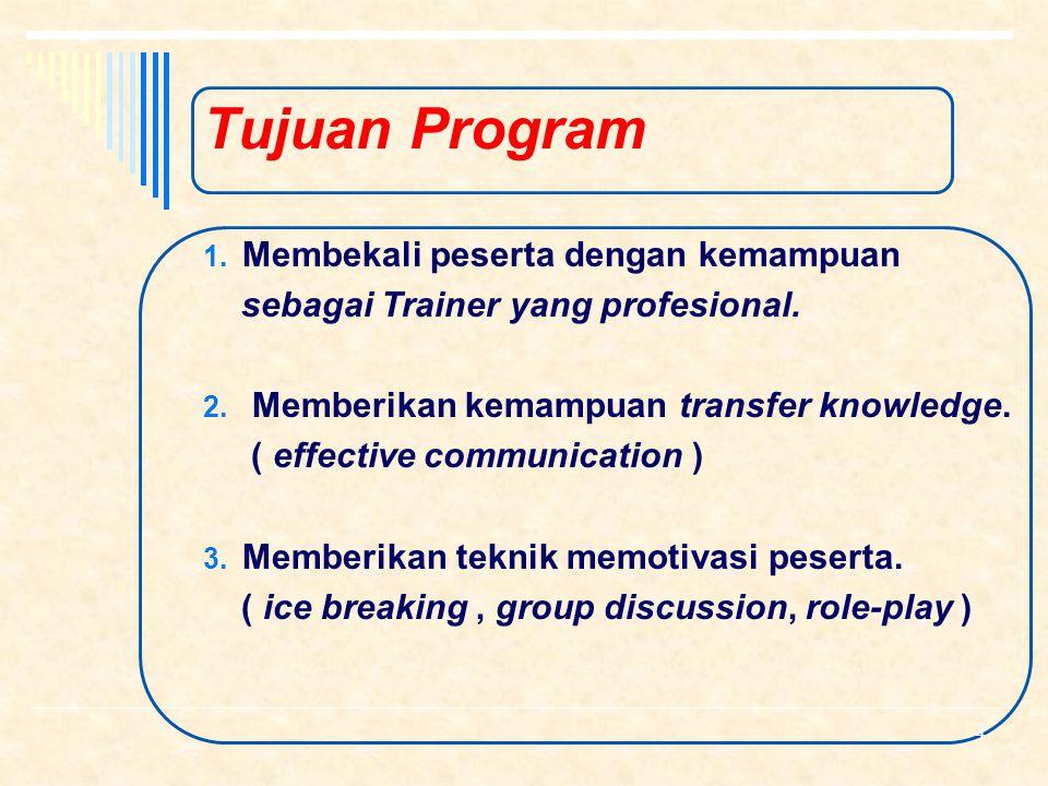Tujuan Program Membekali peserta dengan kemampuan