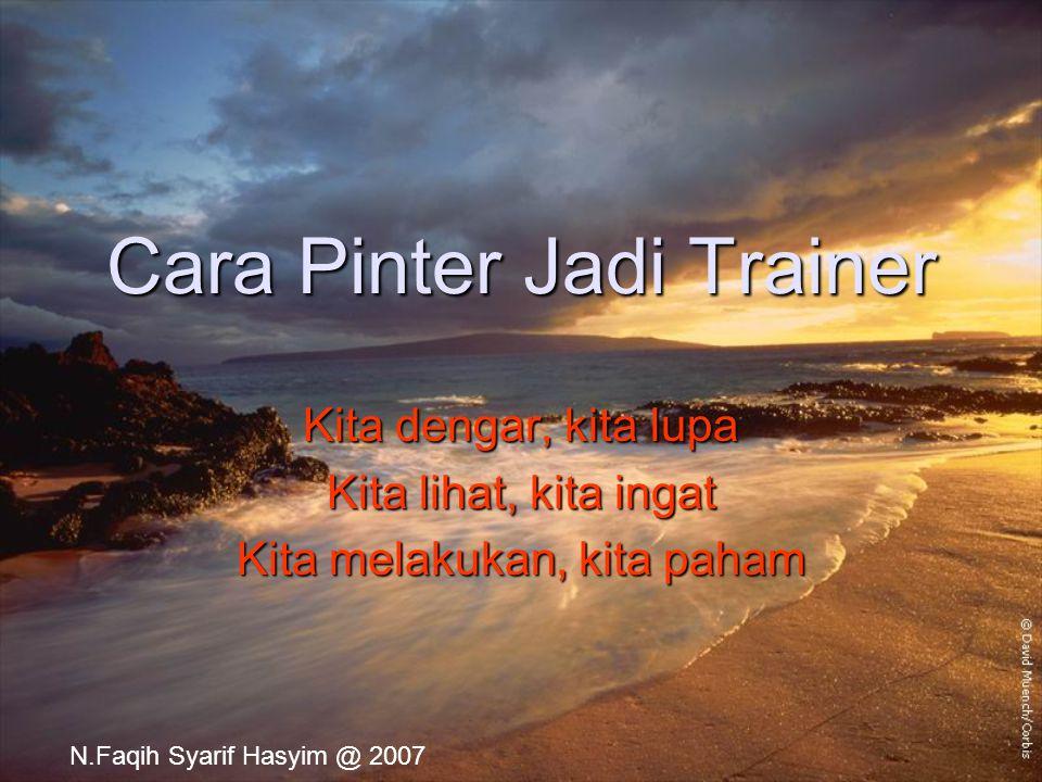 Cara Pinter Jadi Trainer