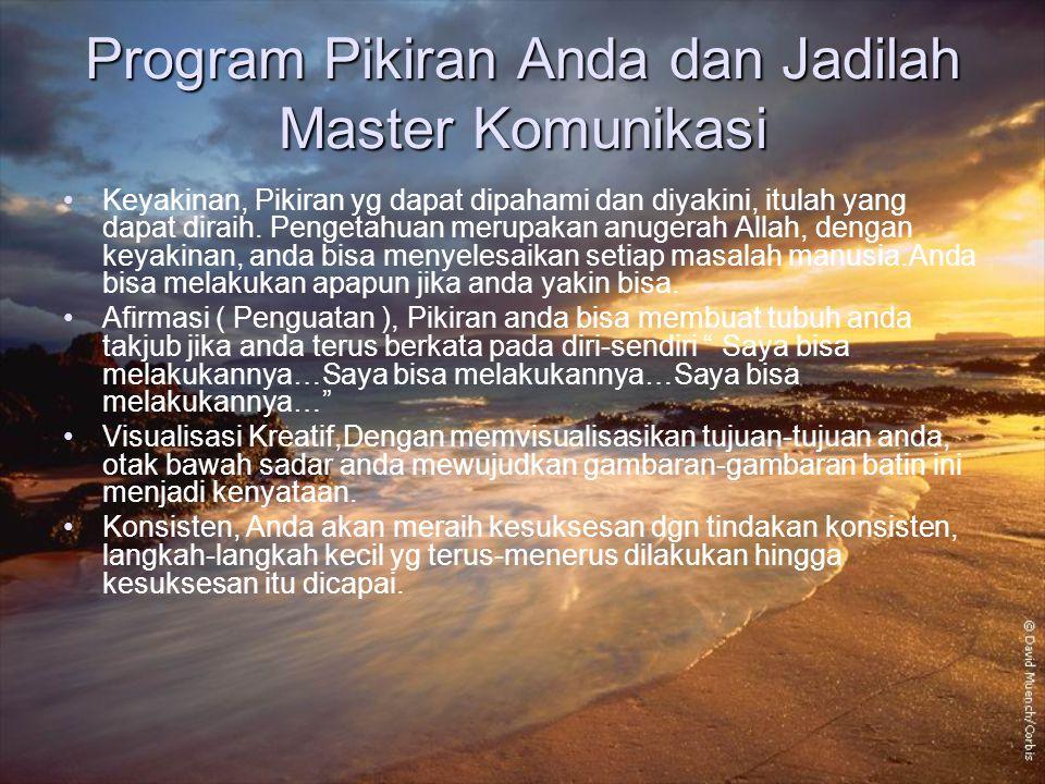 Program Pikiran Anda dan Jadilah Master Komunikasi