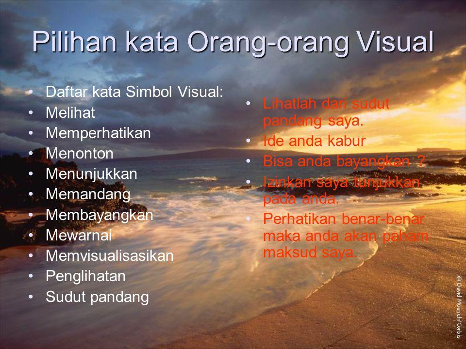 Pilihan kata Orang-orang Visual