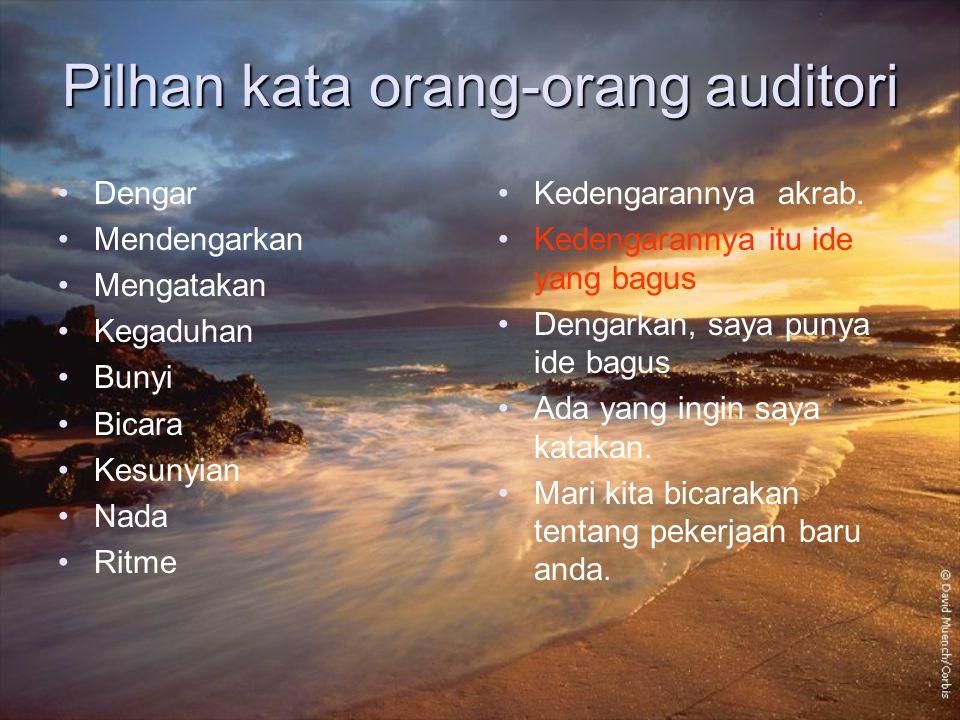 Pilhan kata orang-orang auditori