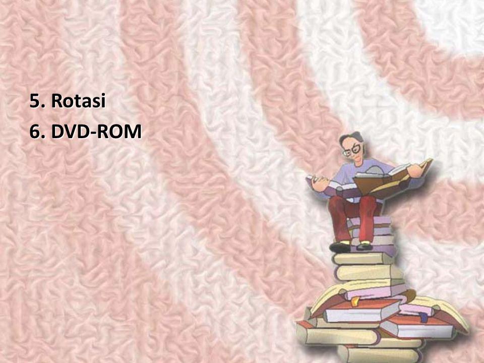 5. Rotasi 6. DVD-ROM