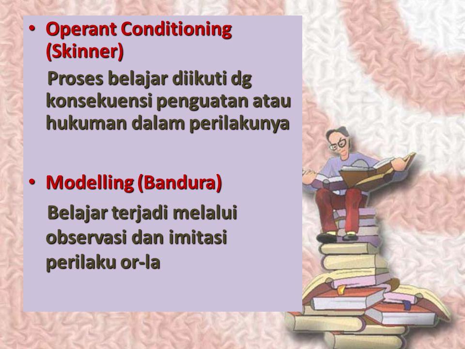Operant Conditioning (Skinner)