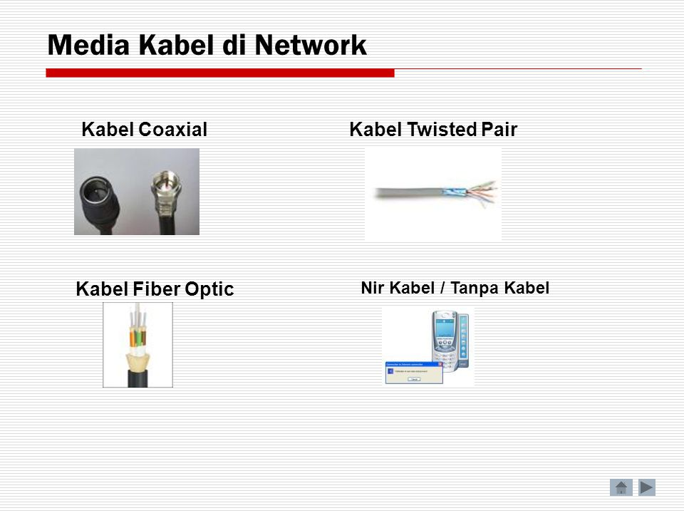 Media Kabel di Network Kabel Coaxial Kabel Twisted Pair