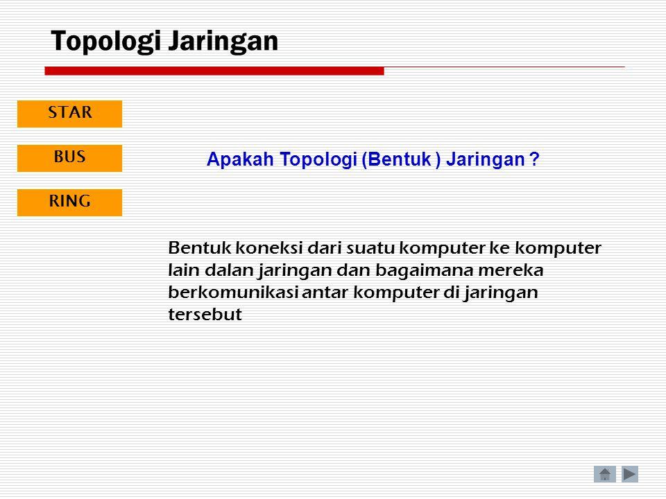 Topologi Jaringan Apakah Topologi (Bentuk ) Jaringan