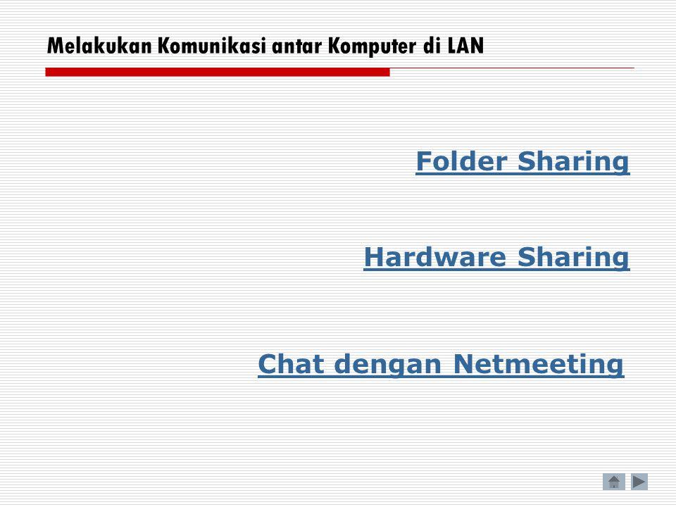 Melakukan Komunikasi antar Komputer di LAN