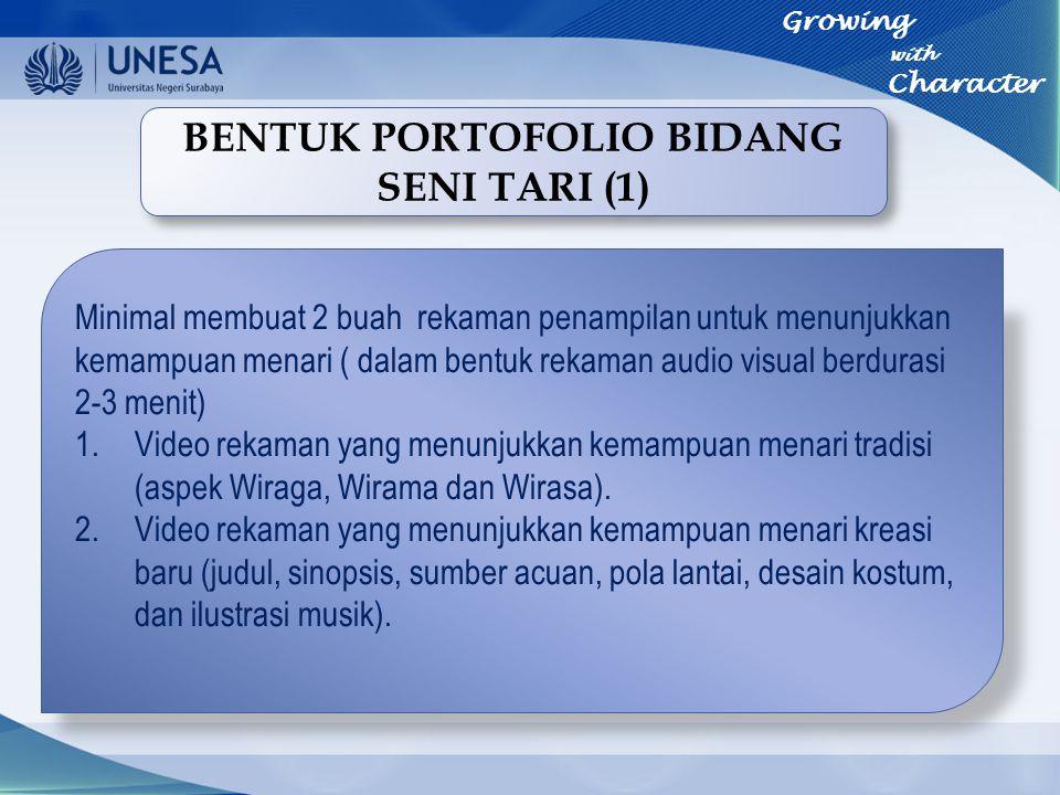BENTUK PORTOFOLIO BIDANG SENI TARI (1)